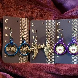 Jewelry - Chainmaille Motorcycle Earrings 3 pair